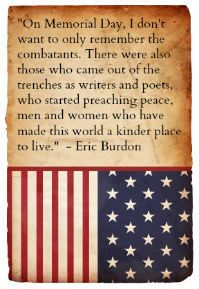 Singer Eric Burdon of The Animals spoke of those who have made a ...
