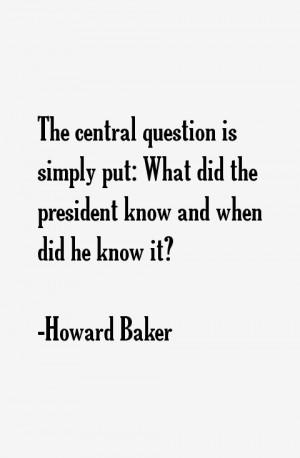 Howard Baker Quotes amp Sayings