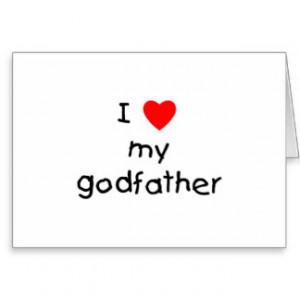 Love My Godfather Greeting Card
