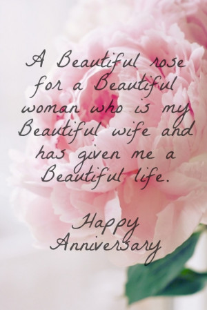 Wedding Anniversary Quotes for Wife to Wish her