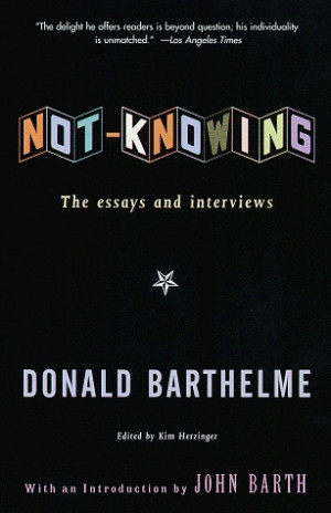 """critical essays on donald barthelme """"the school"""" is a little gem of a short-short story by donald barthelme of the school english literature essay print reflect the views of uk essays."""