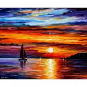 Quiet Sunset, Leonid Afremov, oils 30