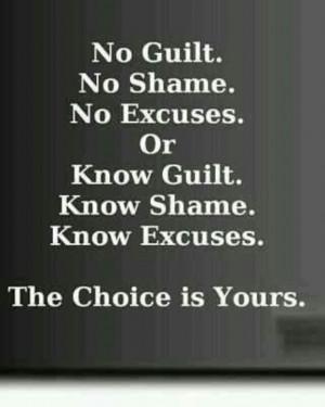 No guilt or know guilt