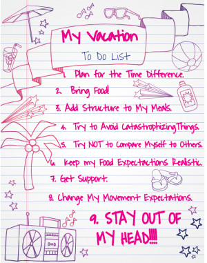 Some strategies for your vacation: