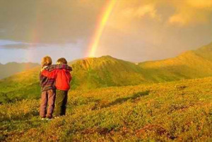 deep friendship is like a rainbow. When the right amount of tears ...