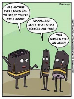 Funny battery cartoon