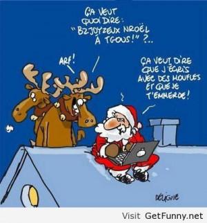 Funny Santa Claus comics