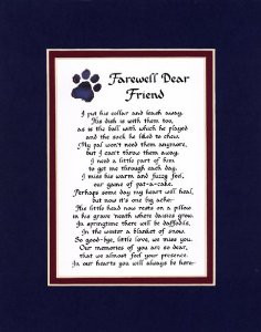 Farewell Dear Friend Male Dog Memorial Wall Decor Poem Pet Saying ...