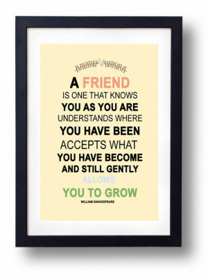 art, art print, for her, friend, friends, gift, quotes, sister