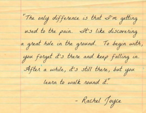 This quote from Rachel Joyce's