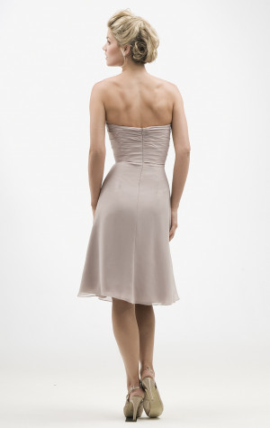 Grey Chiffon Bridesmaid Dresses