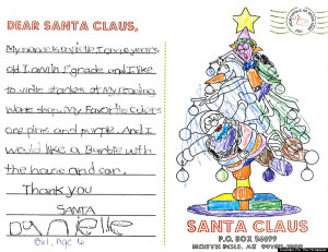 ... santa claus my name is danielle i am 6 years old i am in 1st grade and