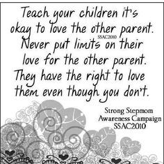 Co parenting, do it for the kids :) More