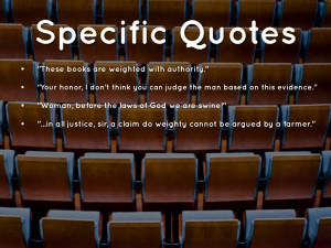 The Crucible Quotes Specific quotes.