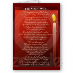 Fireman's Wife ... Greeting Card from Zazzle.com @Sarah Jo Leadbetter