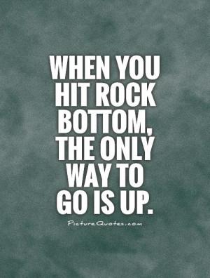 rock bottom quote