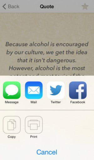 Stop Drinking Quotes - Motivational thoughts to help to keep you on ...