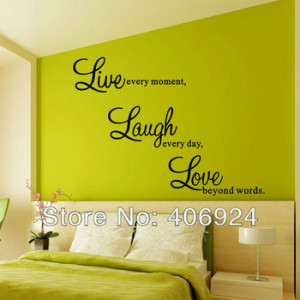 Wholesale Bedroom Wall Quote Decals Stickers Living Room PVC Art Wall ...