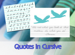 Quotes in Cursive #5: The D'Nealian Script Alphabet, 3-Lined Paper ...