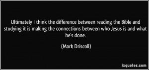 think the difference between reading the Bible and studying ...