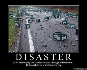 Horrible disaster, beer crash, truck accident