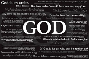 God Quotes - Poster