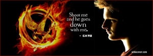 The Hunger Games quote from Cato Facebook Cover