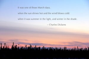 Dear March, we welcome you with open arms