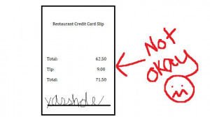 Bad tippers take note. They're naming names.