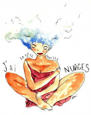 French Quotes With English Translation Tumblr My heads in the clouds