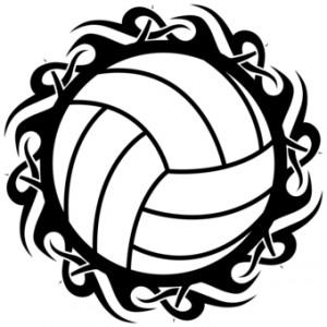 Volleyball Clip Art Black Design