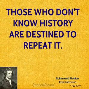 Edmund Burke History Quotes