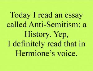 anti semitism essay