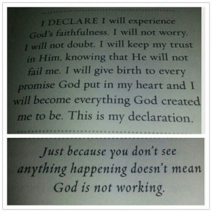 not worry i will not doubt i will keep my trust in him knowing that he ...