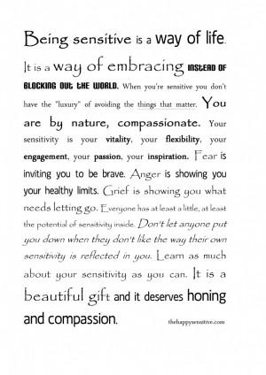"""... sensitive person, an empath, a """"feeler"""", an intuitive sensitive"""