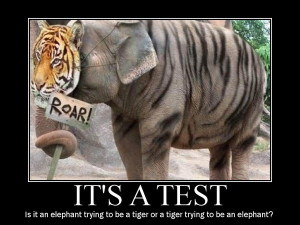 ... of a tiger onto an elephant body does not produce a real tiger roar