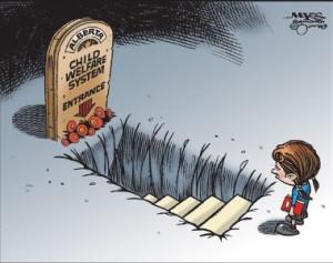 Alberta child welfare system grave