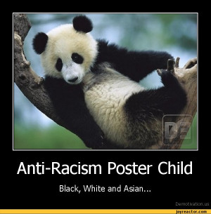 Anti-Racism Poster ChildBlack, White and Asian...De motivation, us ...