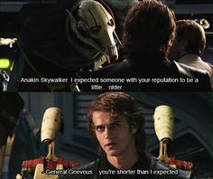 Anakin Skywalker this is like my favourite quote from the movie ...