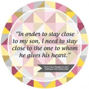 Dear Future Daughter-In-Law...