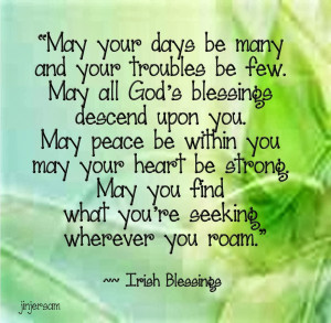 Irish Blessing Quotes And Sayings ~ Irish Sayings In Irish ...