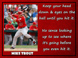 Mike Trout LA Anaheim Angels Baseball Photo Quote Poster Wall Art ...
