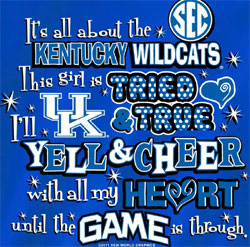 Kentucky Wildcats Football T-Shirts - Yell For UK Sec Best