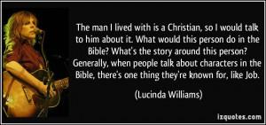 More Lucinda Williams Quotes