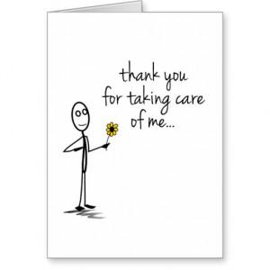 Stick Figure Thank You Nurse Notecard Cards