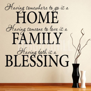 Home » Home Family Blessing - Wall Quotes Lettering