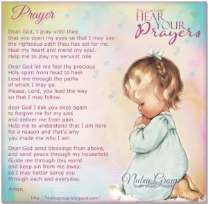 The Lord Will Hear Your Prayer