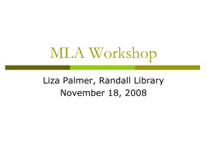 MLA Workshop Quote by MikeJenny