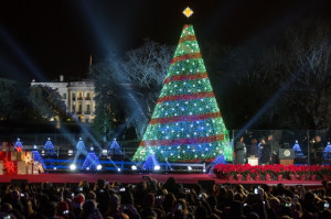 ... Christmas Tree lighting on the Ellipse in Washington, D.C., Dec. 4