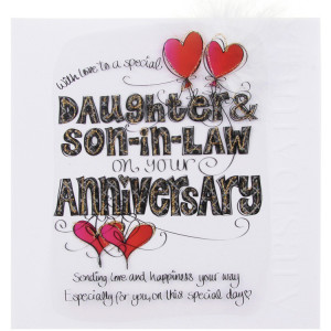 ... daughter happy anniversary to son and tinklers daughter amp son in law